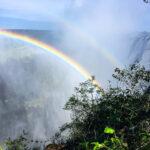 Double rainbow over Victoria Falls, Zambia