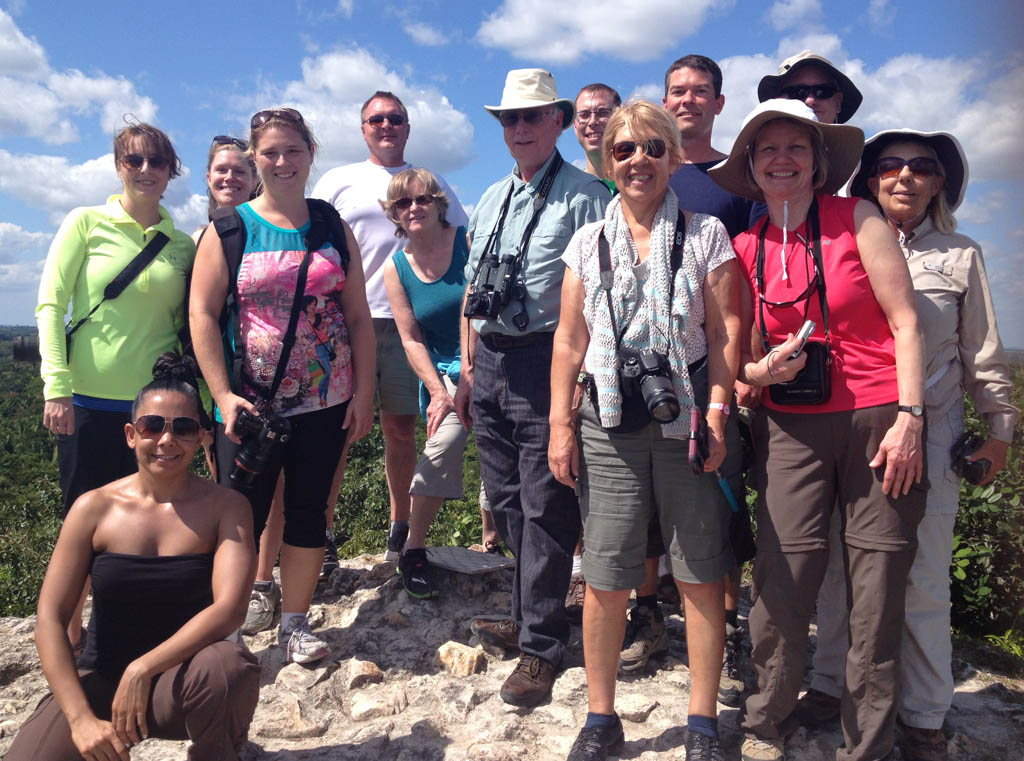 Group of smiling travellers in Belize