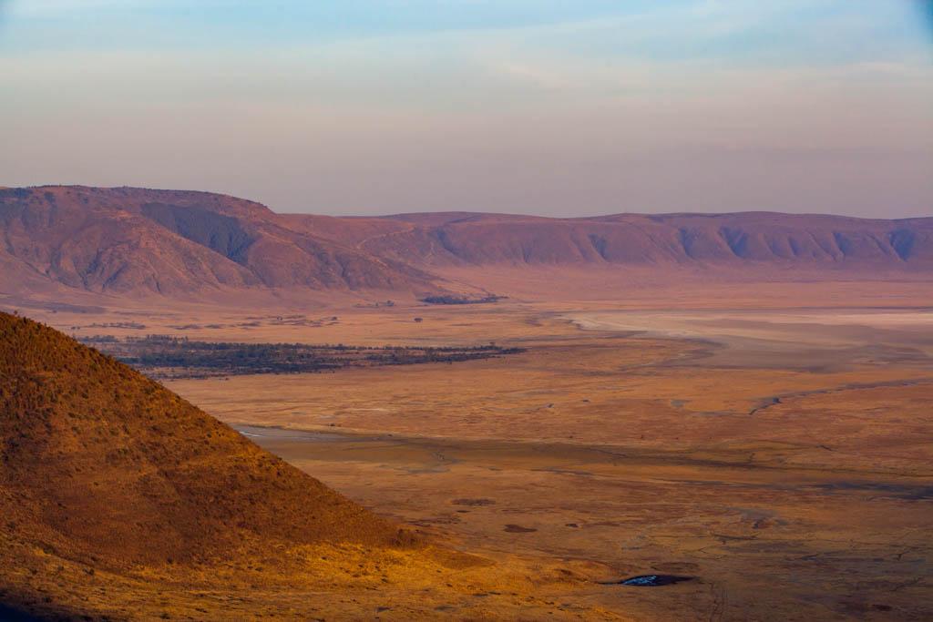 Sunrise view of Ngorongoro Crater in Tanzania