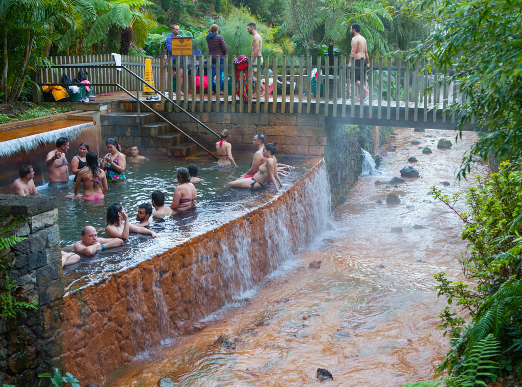 Natural Hot Springs in the Azores Islands, Portugal